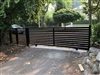 Aluminum Horizon style slide gate with Nice Robus 400