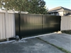 privacy solid panel sliding gate with 3bm opener