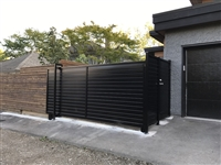 privacy solid panel horizon style slide gate