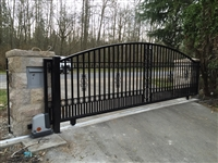 Aluminum Slide gate with mhouse opener