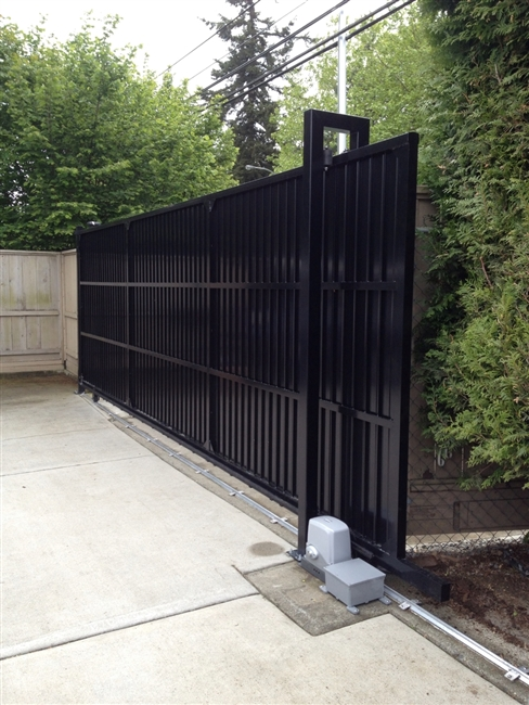 Privacy Solid Aluminum Slide Gate