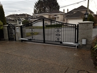 Classical Aluminum Swing gate With Nice Toona 5 opener