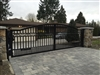 Aluminum Wide picket Dual Swing Gate