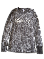 Ratio 1:1 Ladies Long Sleeve Burnout Thermal - Black
