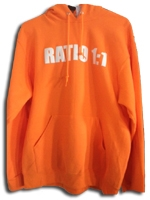 Ratio 1:1 Hooded Sweatshirt - Safety Orange