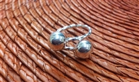 Belizean Bangle Twisted Wire Ring 8mm Balls
