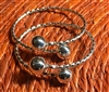 Small Adult Twisted Wire Bangle 10mm Balls- Sold Separately