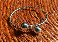 Sterling Silver Belizean Bangle Toddler