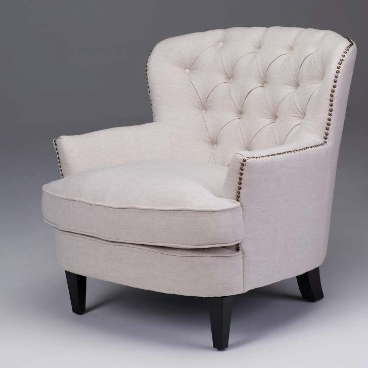 Tufted Sofa Accent Chairs Seriena Beige Accent Chair