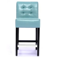 Seriena Blue Leather Counter Height Stools, blue bar stools, leather stools, Leather Bar Stools with Back support, counter bar stools, bar counter stools, bar and counter stools, modern bar stool, leather counter stool, contemporary barstools