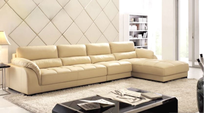 Sectional sofa with chaise leather sectional l shaped for Beige sectional with chaise