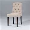Seriena Lyon Tufted Back Dining Chair in Beige/Gray Linen, tufted dining chairs, luxury dining chairs, linen dining chair, fabric dining room chairs, fabric dining chair, upholstered dining chair, modern upholstered dining chairs, dining chair online