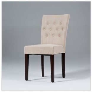 Seriena Madison Dining Chair in Beige/Gray Linen, luxury dining chairs, linen dining chair, fabric dining room chairs, fabric dining chair, upholstered dining chair, modern upholstered dining chairs, dining chair upholstered, dining chair online