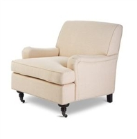 Seriena Linen Leisure Sofa (chair) with  Coasters, Solid Beige Sofa, Solid Beige Linen Sofa, Beige Accent Chair