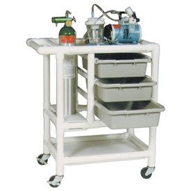 MJM International Emergency Crash Cart, 3 DrawersCART,EMERGENCY CRASH,3 DRAWER
