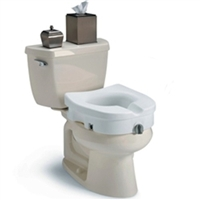 Invacare Clamp-On Raised Toilet Seat