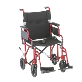 Nova 349 Transport Wheelchair with Flip Back Arms