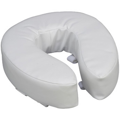 "Vinyl Cushion Toilet Seat - 2"" or 4"""