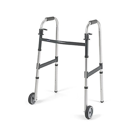 Invacare Dual Release Adult 3 Inch Wheeled Walker