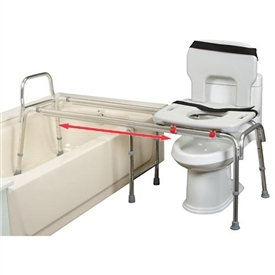 Eagle Health 67993 - XX Long Toilet to Tub Sliding Transfer Bench