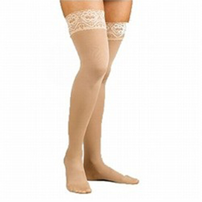 Activa Sheer Thigh High with Lace