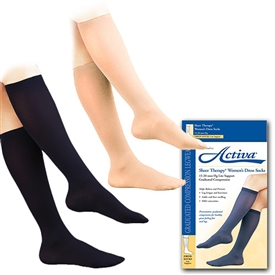 Activa Women's Sheer Therapy Dress Socks, 15-20 Mm Hg