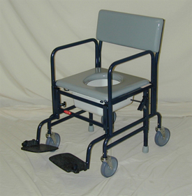 "ACTIVEAID 461 Shower Commode Chair w/5"" Wheels"