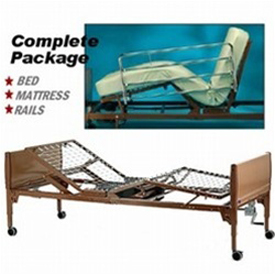 Invacare Semi-Electric Bed Package - Bed, Rails and Mattress