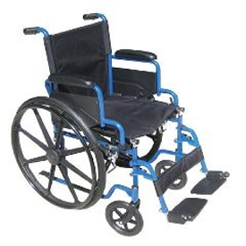 Drive Medical Blue Streak Wheelchair w/ Flip-Back Arms