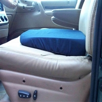 Seat Wedge Cushion, 16x13 In. Blue Washable Cover
