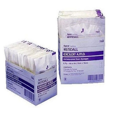 Excilon Amd Antimicrobial Drain Sponges, Sterile 2'S