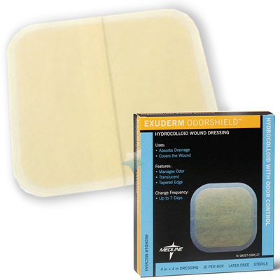 Medline Exuderm OdorShield Hydrocolloid Wound Dressings