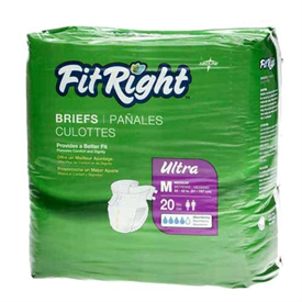 Medline FitRight Ultra Disposable Adult Briefs