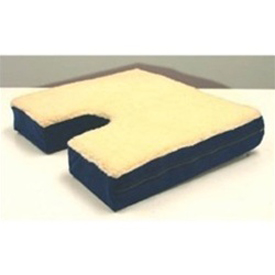 "Coccyx Gel Seat Cushion with Fleece Top 16""D x18""W x3"""