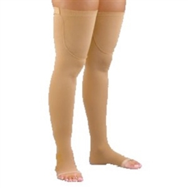 Activa Thigh High Anti-Embolism Stockings With Open Toe, Uni-Band Top
