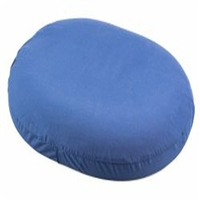 "Rose Donut Cushion, Large, 18"" Diameter - Blue"