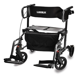 HybridLX Rollator Transport Chair By Lumex