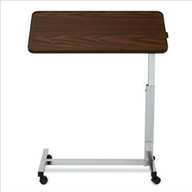 Medline Tilt-Top Overbed Walnut Table