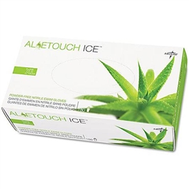 Medline Aloetouch Ice Powder-Free Nitrile Exam Gloves