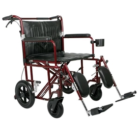 Medline Excel Freedom Plus Heavy Duty Transport Wheelchair