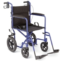 "Medline 12.5"" Rear Wheel Transport Chair"
