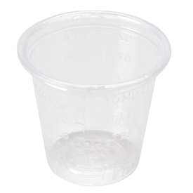 Calibrated Plastic Medicine Cup: 1 Oz Capacity