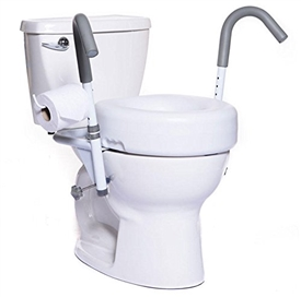 "MOBB New Ultimate 5"" Raised Toilet Seat and Safety Frame, Strongest Toilet Safety"