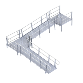 PVI Modular XP Ramp (w/ Handrails) 42 Inches Wide