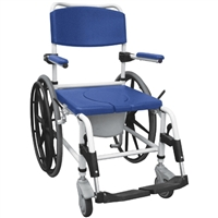 Drive Aluminum Rehab Shower Commode Chair 24'' Wheels