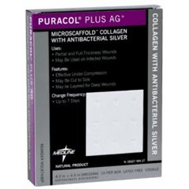 Puracol Plus AG+ Wound Dressing with Antibacterial Silver