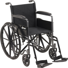 Drive Medical Silver Sport Standard Wheelchair