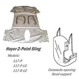 Hoyer 117 2-Point Sling With Head Support & Commode Opening