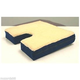 "Coccyx Gel Seat Cushion With Fleece Top 16"" D x 18"" W x 3"""
