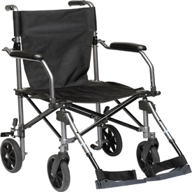 Drive TC005GY Travelite Transport Chair, with Carry Bag